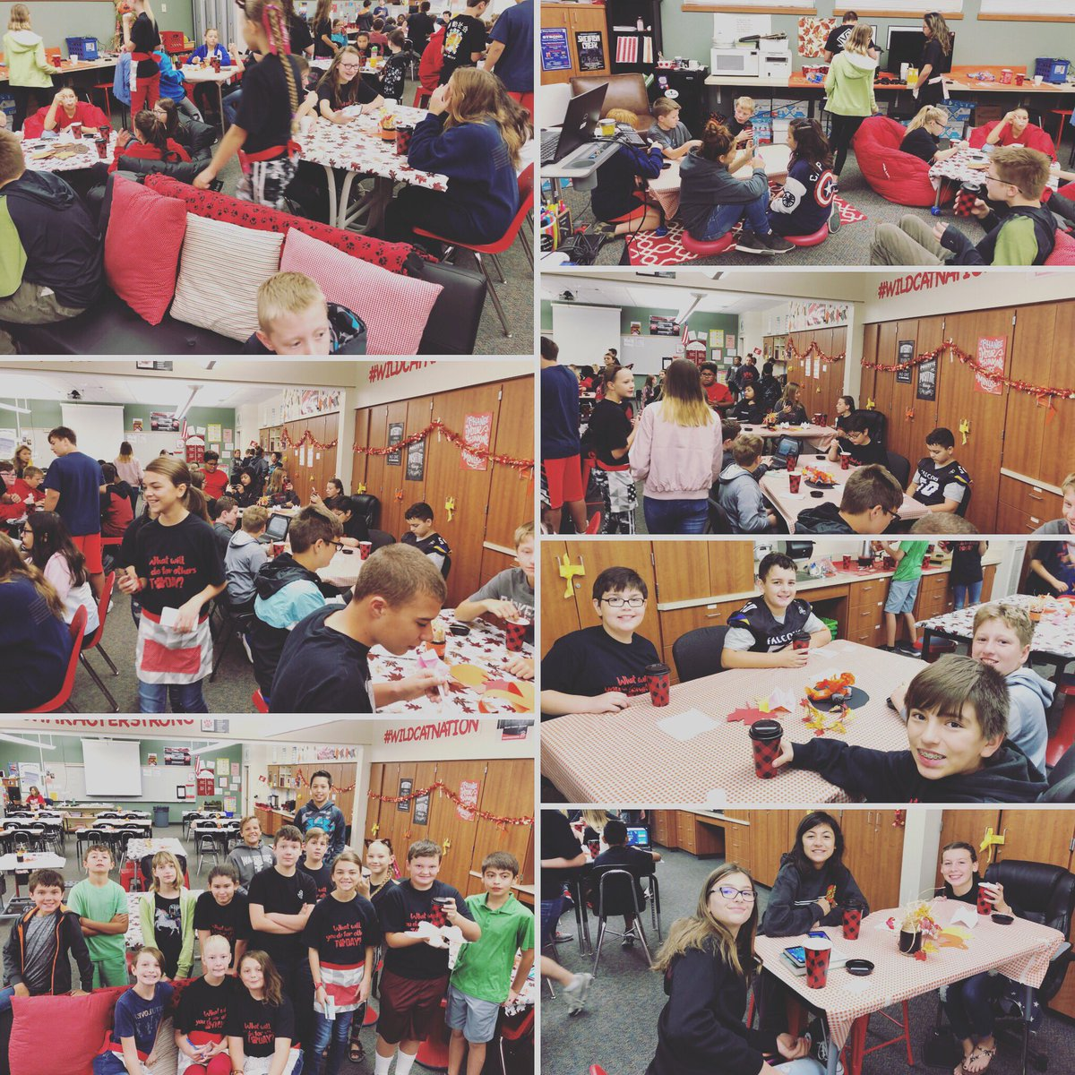 So proud of my leadership students for hosting an amazing Wildcat Cafe this morning! #wildcatnation