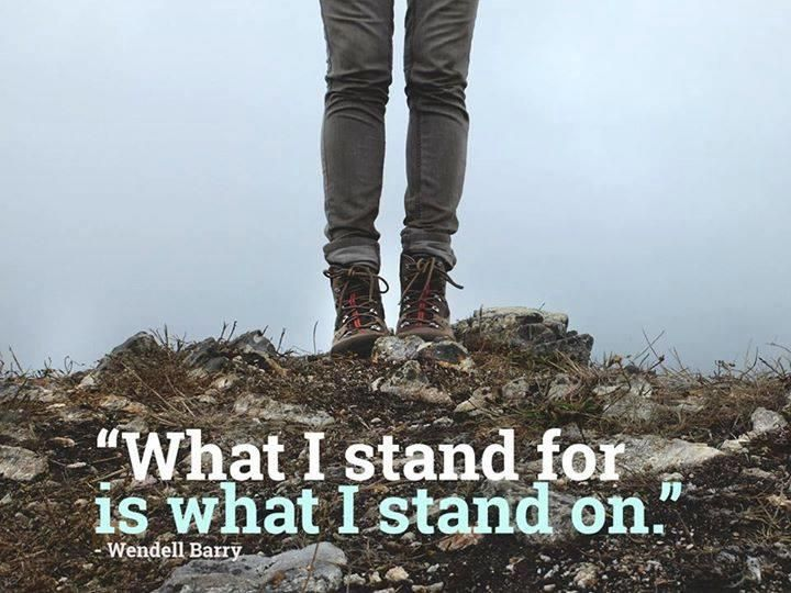 'What I stand on, is what I stand for.' RT if you agree.