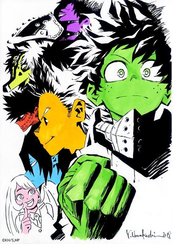 『僕のヒーローアカデミア』TVアニメ3期、最終回放送が終了しました!! 4月から全25話、ご視聴と応援、本当にありがとうございました!! 3期応援感謝イラスト: by 馬越嘉彦さん(アニメ #ヒロアカ キャラクターデザイン) そして…! heroaca.com #heroaca_a
