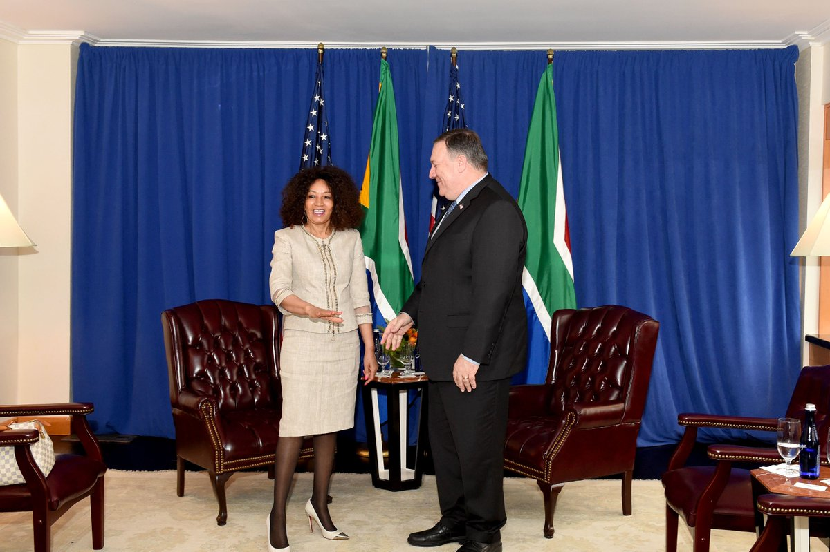 Image result for Sisulu, Pompeo photo