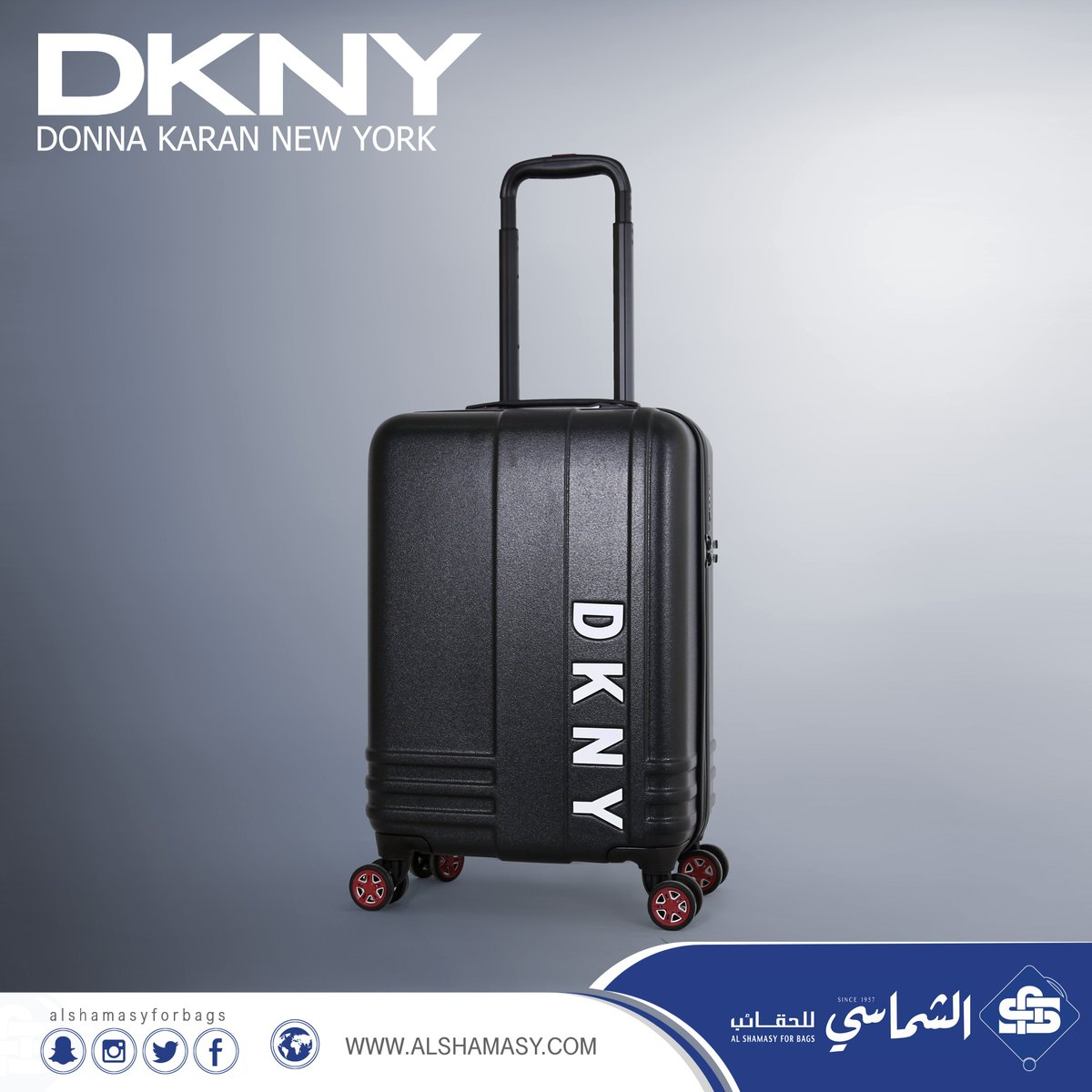 2882b301d392f وصل حديثا حقيبة سفر ماركة DKNY مقاس واحد بحجم كبينة الطائره مصنوعة من  البولي كاربون قفل