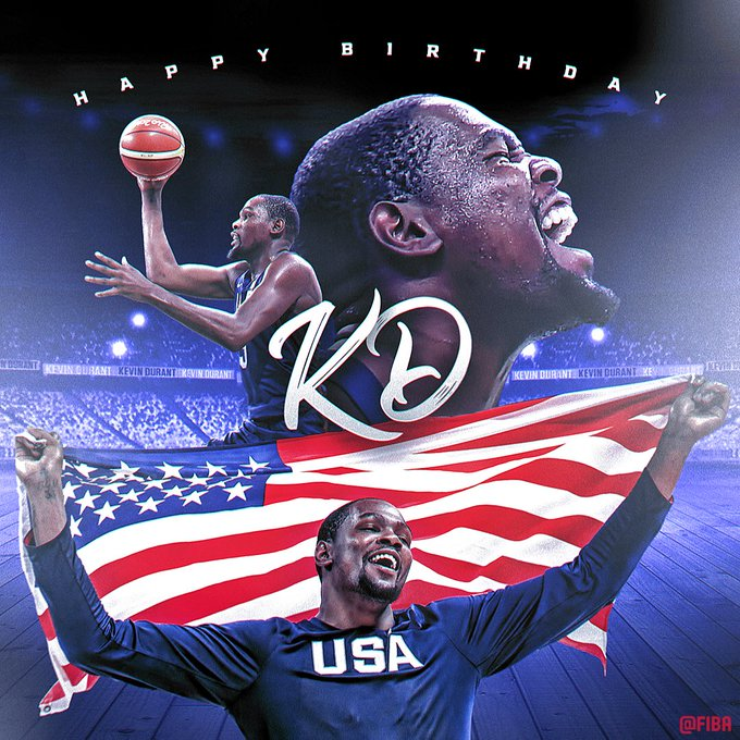 Join us in a wishing Kevin Durant a Happy Birthday