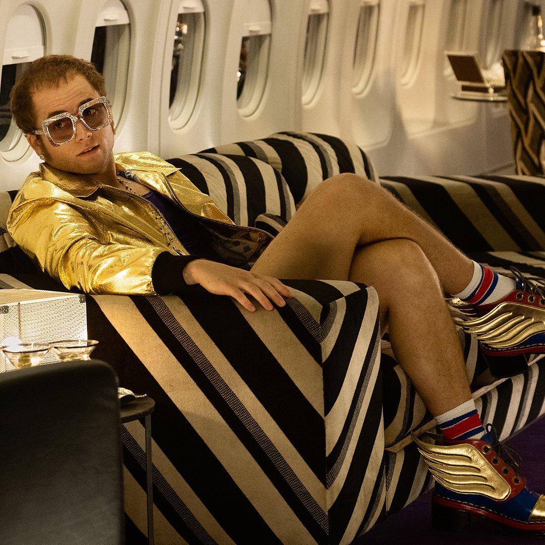 Taron Egerton as Elton John in Rocketman!