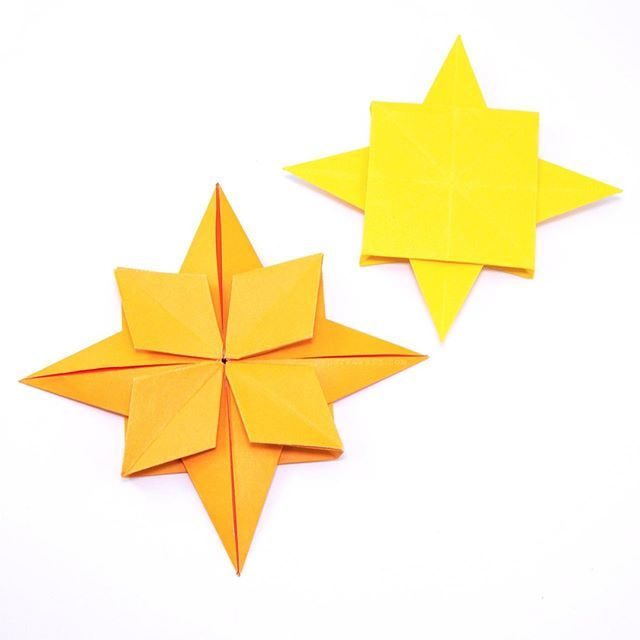 Simple 5 Point Origami Star Instructions | 640x640