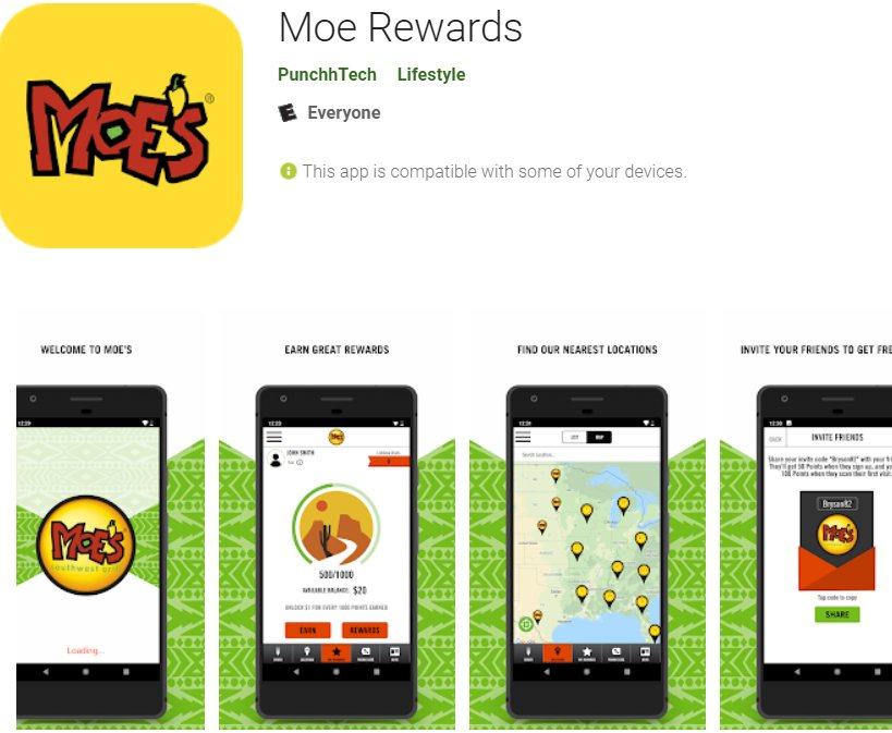 Invite code for moes app