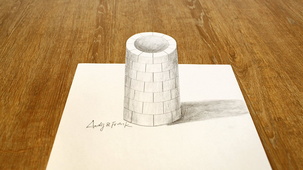 Andy On Twitter Very Easy How To Draw 3d Well 3d Trick Art Art