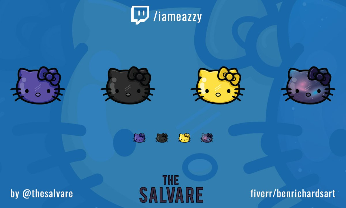 Cute re-colours Twitch sub badges I created for @iameazzy_