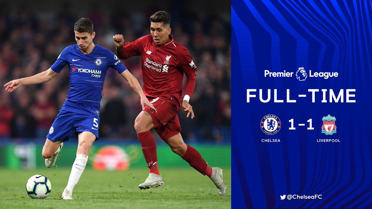 Chấm điểm kết quả Chelsea 1-1 Liverpool