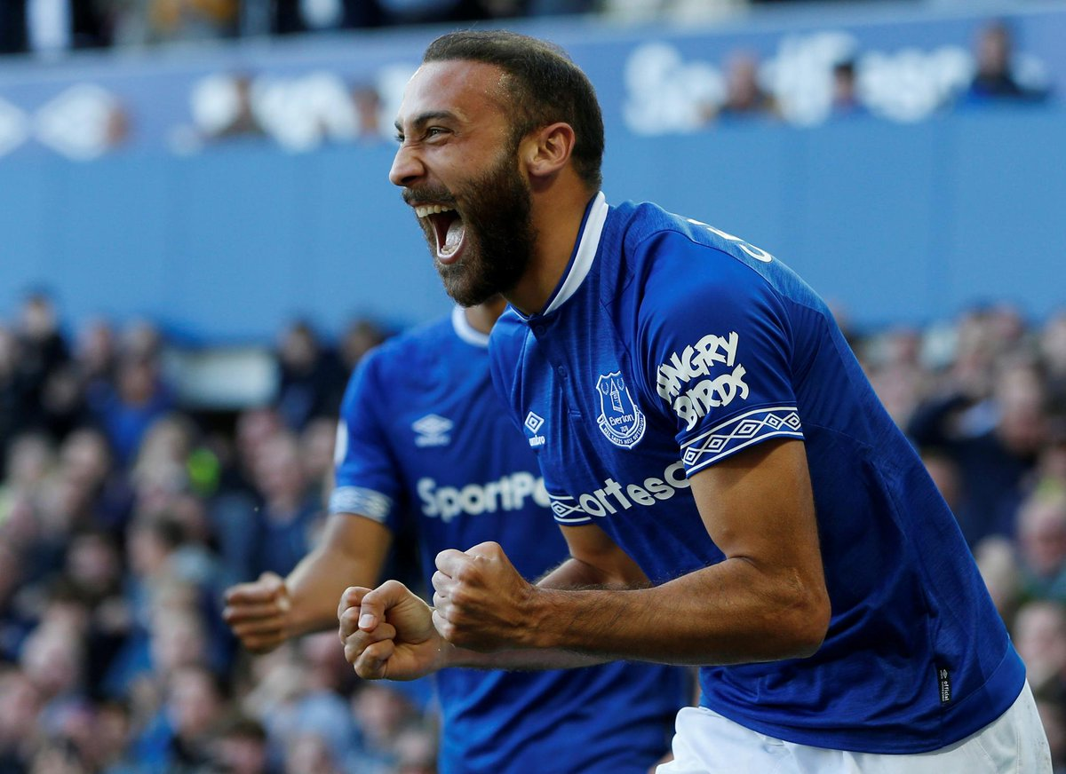 📸 That first #PL goal of the season feeling for @CenkTosun_ 🙌  #EVEFUL