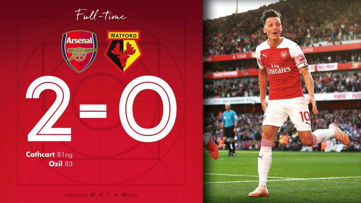 Chấm điểm kết quả Arsenal 2-0 Watford