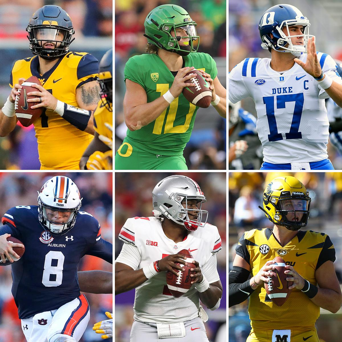 Top 25 prospects 2.0 (via @MoveTheSticks + @BuckyBrooks)  Six QBs ranked in the top 20!  10. @willgrier_, @WVUfootball 12. @Jarrett_Stidham, @FootballAU  20. Daniel Jones,    F@Duke_FBULL:  https://t.co/9YKWJciX2F