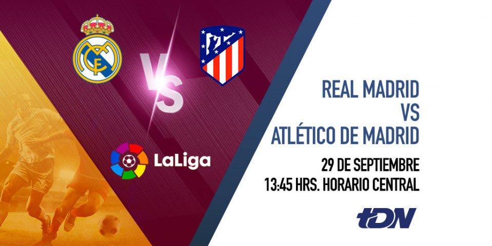 La última vez que se enfrentaron, solo le bastaron 5 minutos al Atlético de Madrid para darle la vuelta a los merengues. ¿Lo harán de nuevo? Sigue el partido por @tdn_twit. https://t.co/XnZAGA9BAI