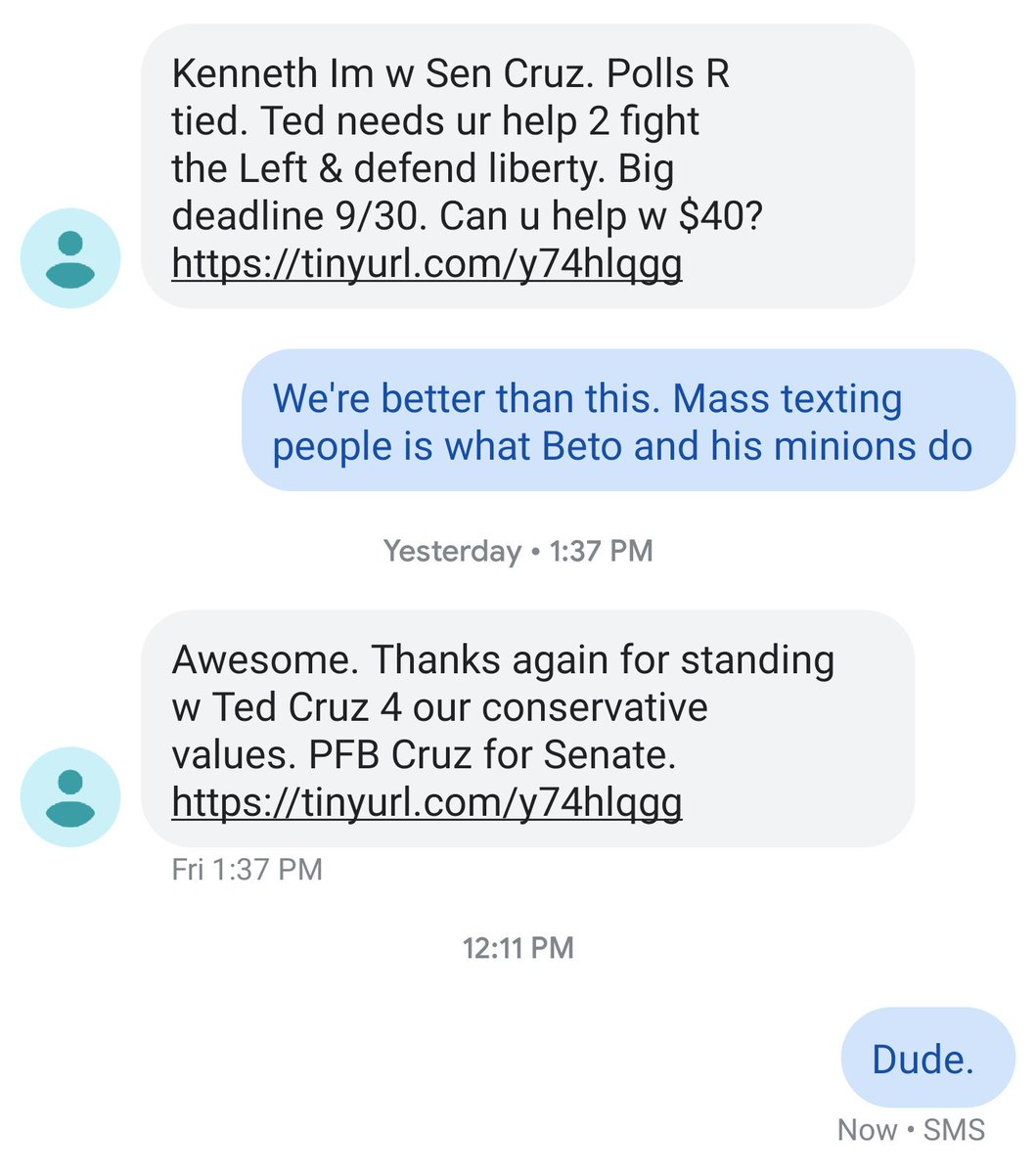 Coming to your smartphone: Texts with a personal touch from political campaigns