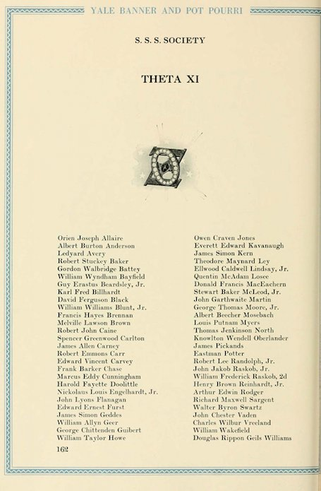 """Kavanaugh even lied about his connections to Yale: """"I have no connections there. I got there by busting my tail.""""   See this yearbook. He was legacy; his grandfather went there. What pathetic perjury.  https://t.co/sV1EcjO9Zn"""