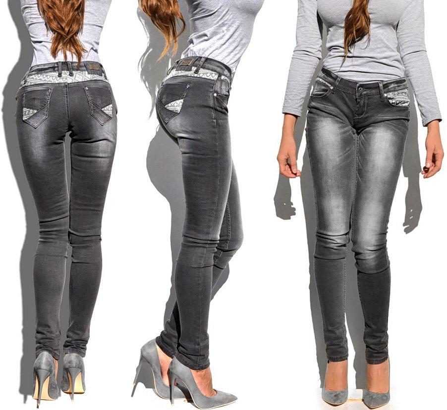 cc19623292b82e #Spodnie #Damskie #Jeans #Denim #RURKI #Kobiece #Szare w #Azteckie #Wzory  model #421 na #Wiosnę #Lato #Jesień #Zimę w sklepie ...