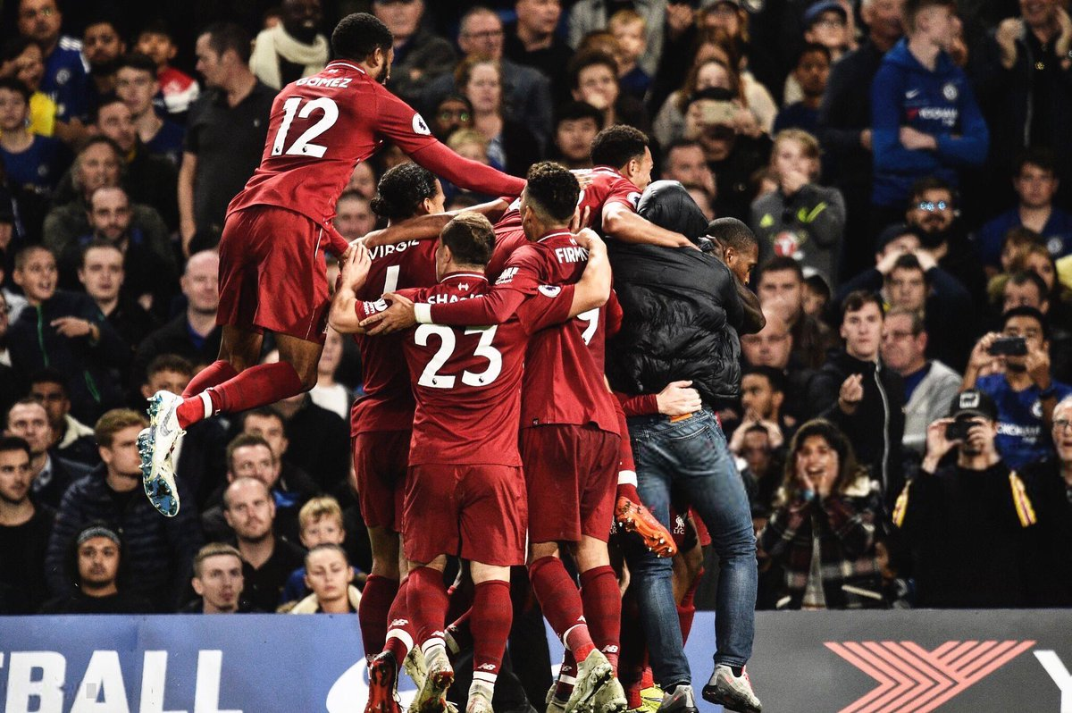 Big point away from home🙌🏽... @DanielSturridge 🚀☄️🔥. Thanks for the travelling support, safe journeys home #LFC