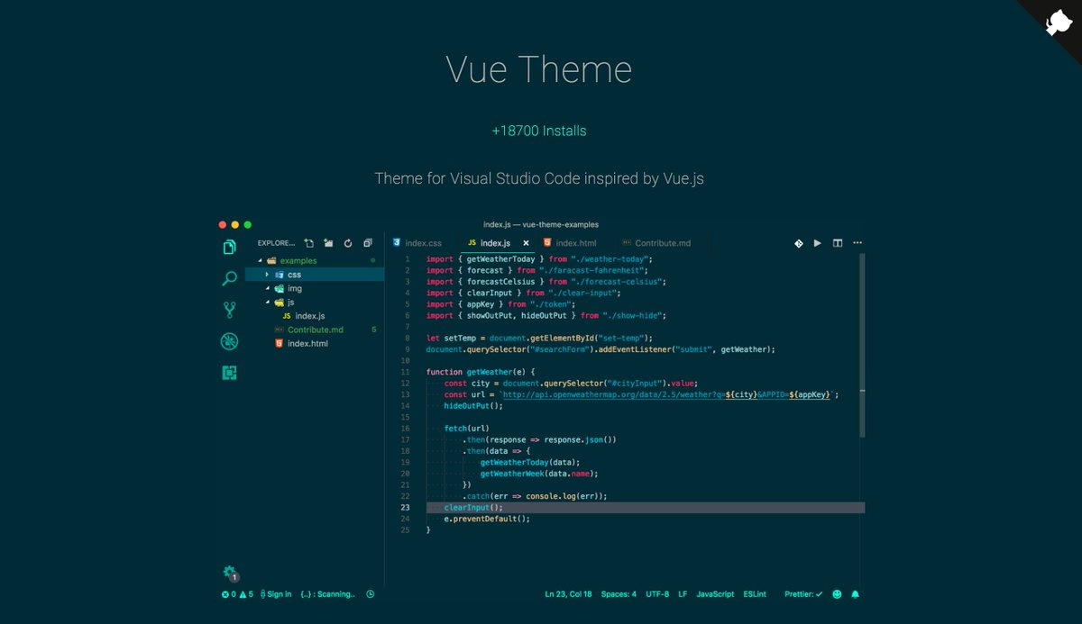Visual Studio Code Vuejs Example
