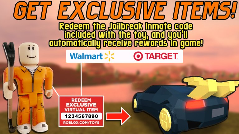 Badimo On Twitter Redeem A Code From A Jailbreak Inmate Toy And