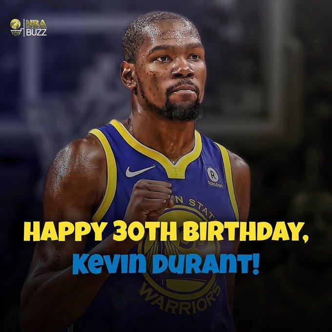 Happy 30th Birthday, Kevin Durant! Enjoy the 2018 2019 NBA Season.