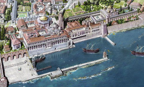 The French artist Antoine Helbert is fascinated by the Byzantine Empire and created many gorgeous drawings showing #Constantinople at its prime. Fantastic artwork I must say... Source: antoine-helbert.com/fr/portfolio/a…