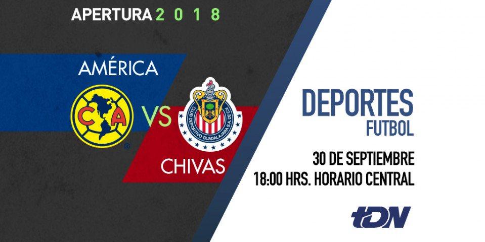 ¡Domingo de Súper Clásico! Sigue cada detalle de la mayor rivalidad del futbol mexicano: América vs Chivas por @tdn_twit. https://t.co/oRtWttMPKl