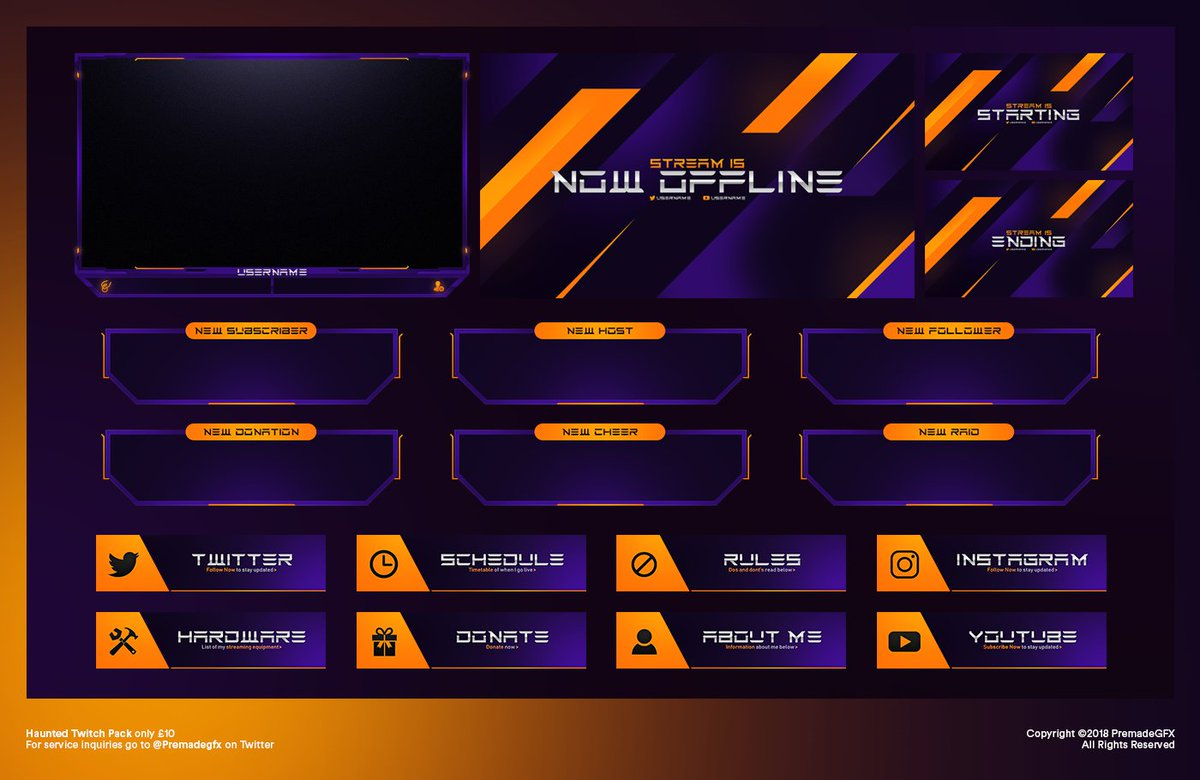 Haunted Twitch Pack now in the shop! 🚀 Only £10