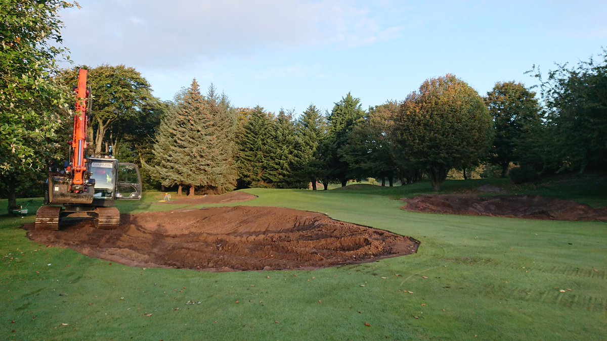 test Twitter Media - Work is well under way at the 3rd hole so it is closed for the time being. 3rd hole is now from 4th tee to temporary green on 4th fairway.  Temporary measures still in place on holes 2, 3, 4, 6, 7, 15, 16 and 17. https://t.co/5zb5RcPbvs