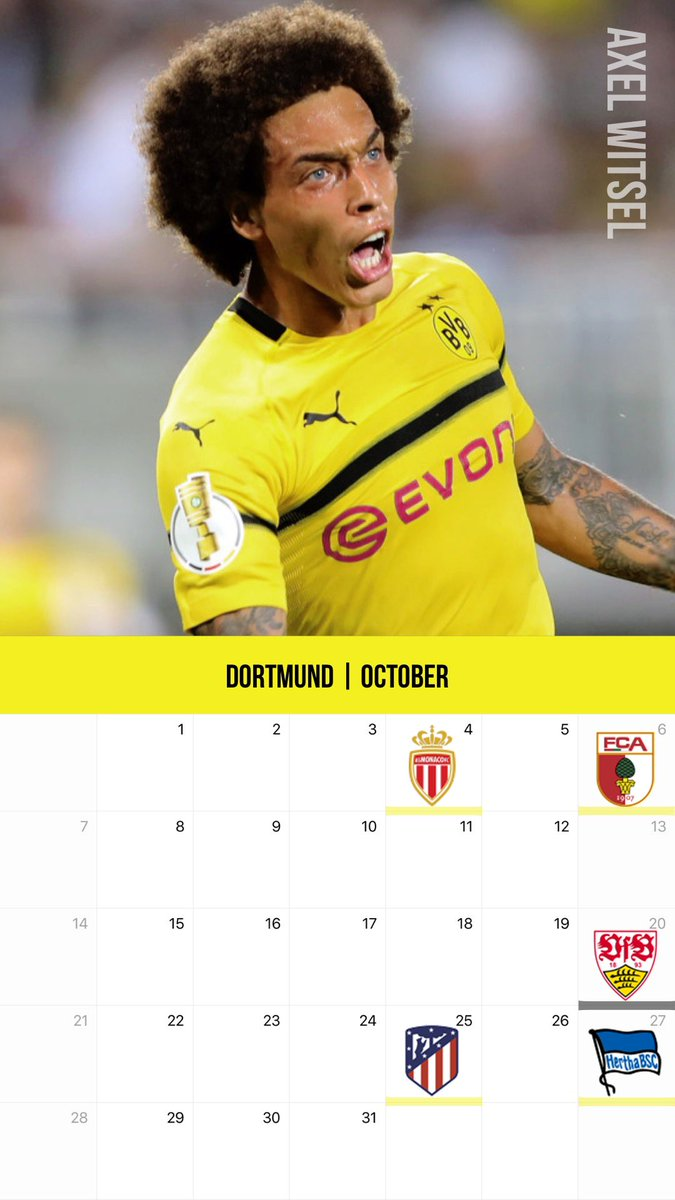 Kazu در توییتر 10月のクラブカレンダー壁紙その2 バイエルン ドルトムントver ゴレツカ ヴィツェル