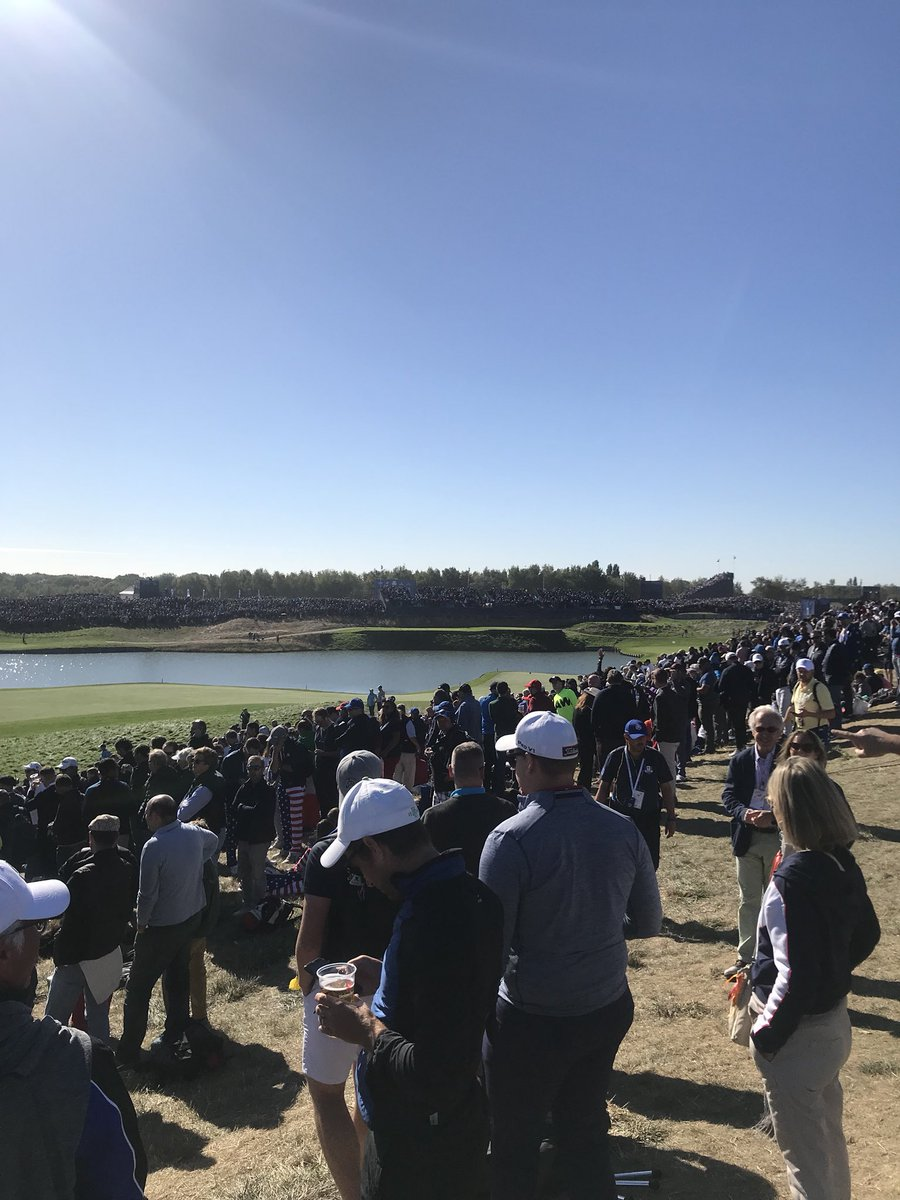 What an atmosphere! #RyderCup