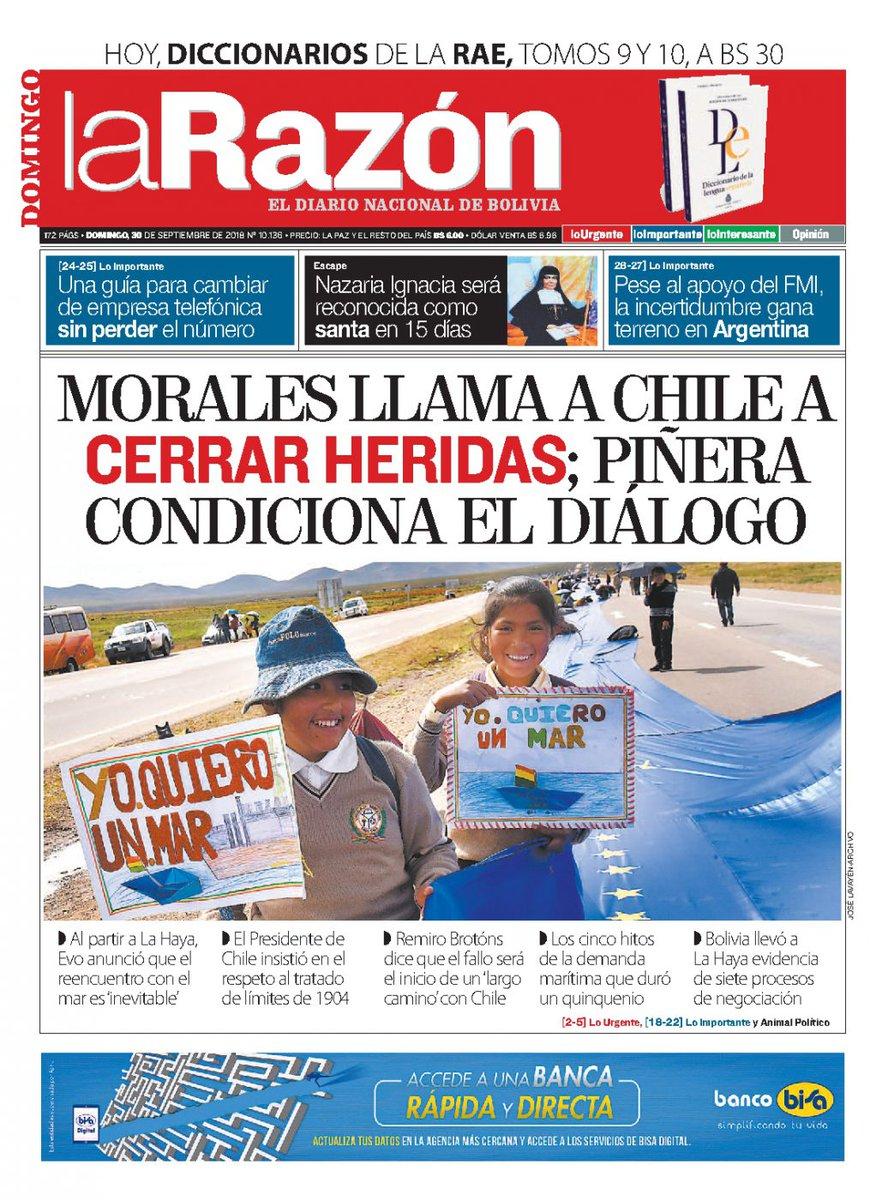 Eju Tv On Twitter Portadas De Periodicos De Bolivia Del Domingo 30
