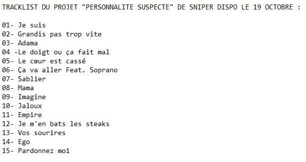 personnalité suspecte sniper