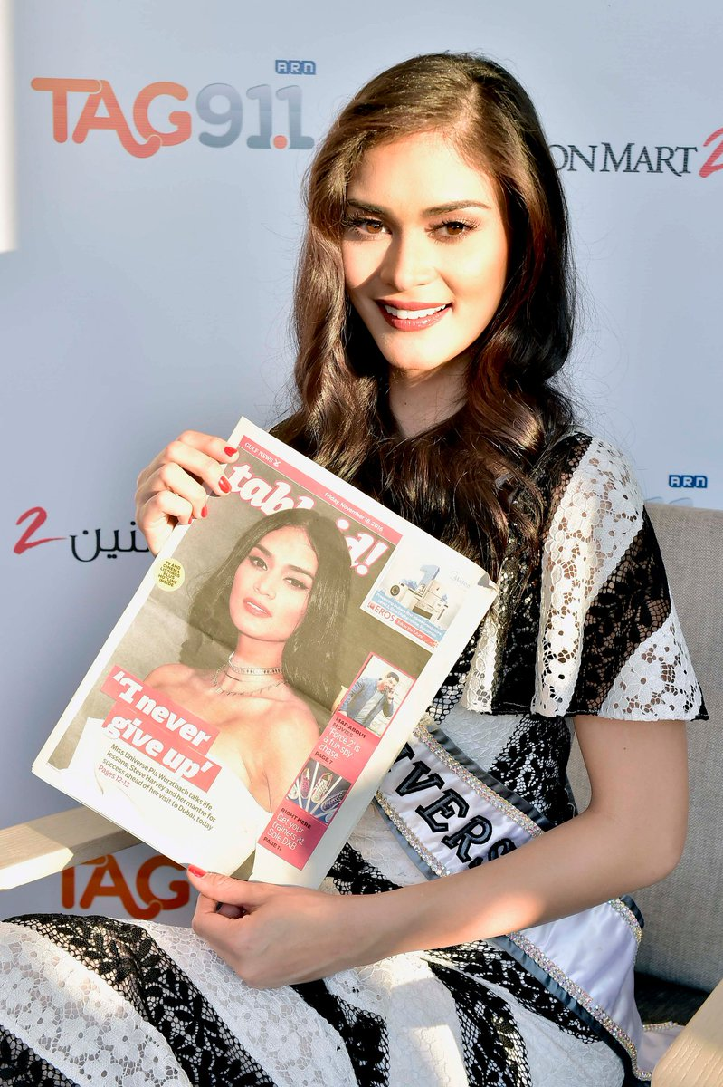 Stars who love #GulfNewsTabloid: #MissUniverse 2015 #PiaWurtzbach in Dubai in 2016. #GulfNews40