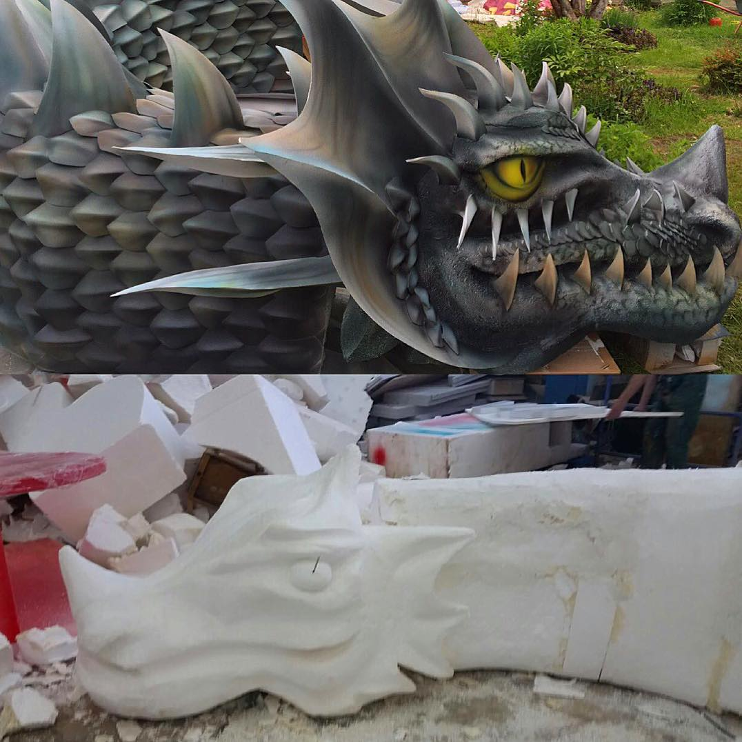дракон из пенопласта цена