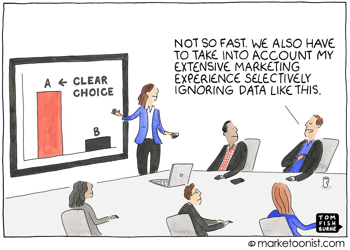 """""""Evidence-Based Marketing"""" - new cartoon and post on balancing the art and science of marketing https://t.co/WnF8lEnYVg #marketing https://t.co/Au9y8Pk3Xx"""