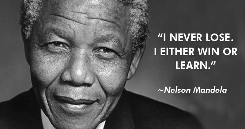 "Reggie Marable on Twitter: """"I never lose. I either win or I learn."" -  Nelson Mandela… """
