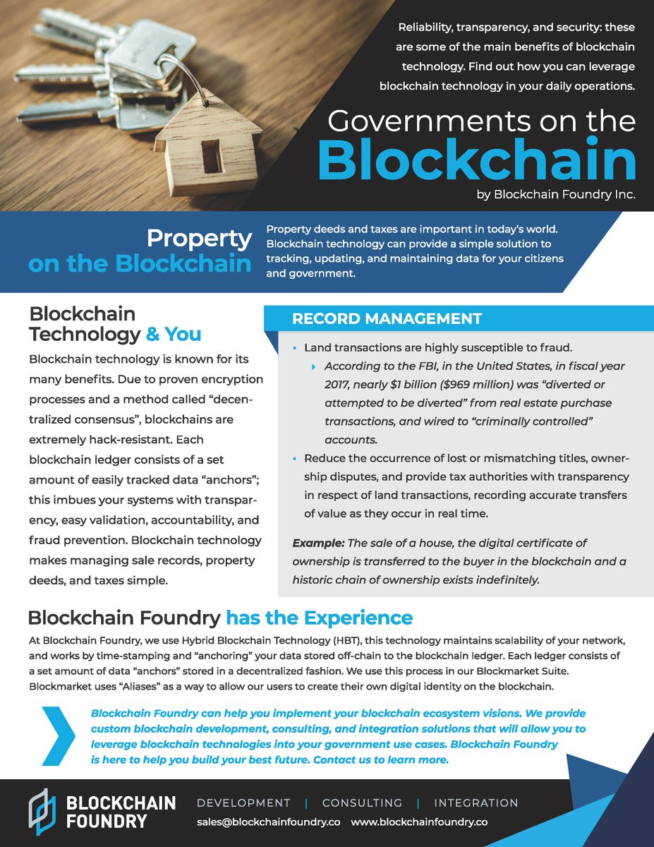 Blockchain Foundry Twitter Property Taxes On The Blockchain