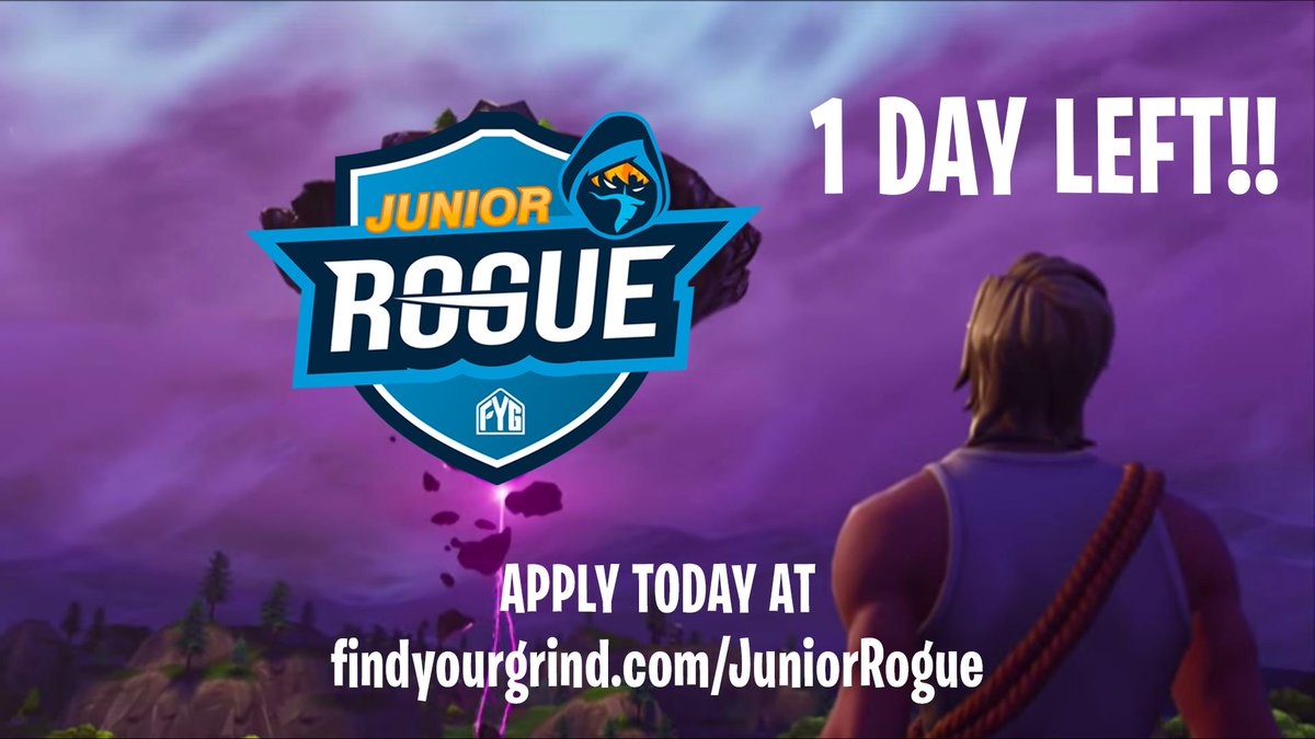 want to be coached by drlupoontwitch and the goingroguegg fortnite team send in your application in at http findyourgrind com juniorrogue - rogue fortnite team