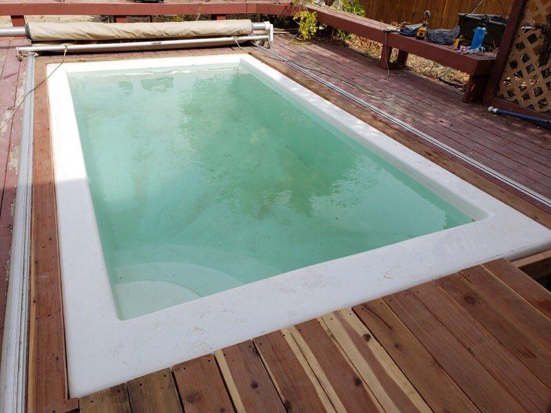 Sanjuanpools On Twitter Sanjuanpools Fiberglass Pools Https T Co Enyb0vhrvo Sedona Model 8x14x4 One Piece San Juan Fiberglass Pool Built Into A Wood Deck Simple And Affordable Turn Key Project Https T Co Vn1ozt9lgp
