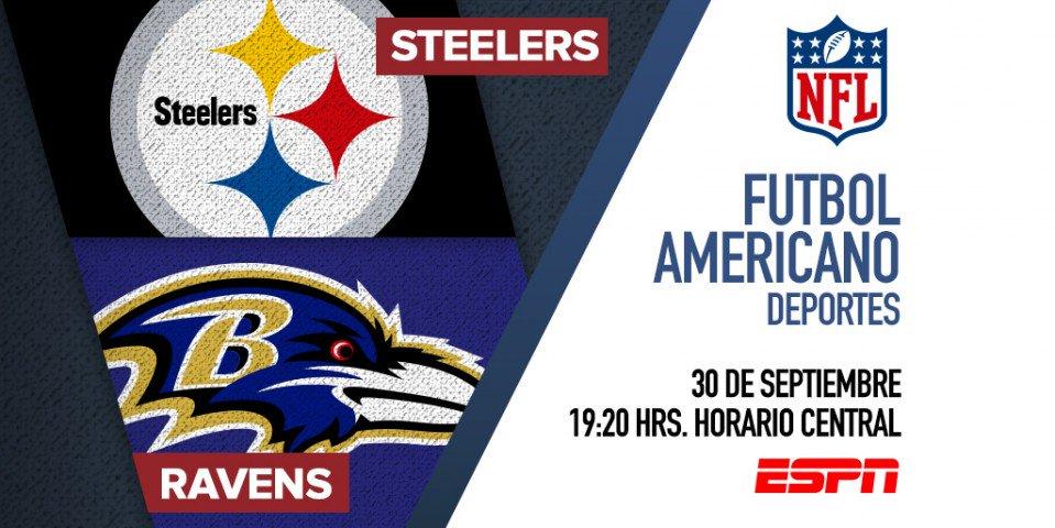 Tras la victoria ante Broncos, Ravens se prepara para su nuevo rival: Steelers. Sigue el encuentro por @ESPNmx. #SNF https://t.co/lPtvNfcnIF