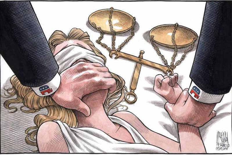 Affaire Kavanaugh: la caricature d'un journal d'Halifax devient virale https://t.co/7qp7cgNRgE