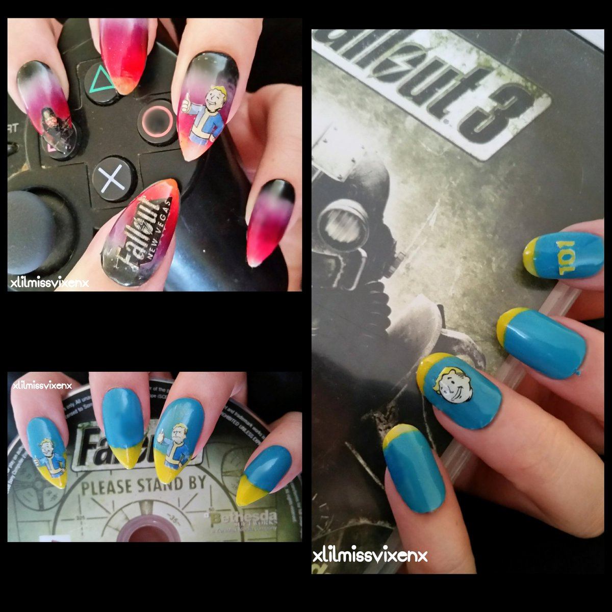 Vix On Twitter Just Some Fallout Reciation Courtesy Of One Nail Art Obsessed Who Is The Fallout76 Hype Train