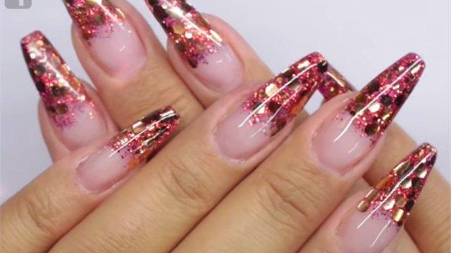Nails Magazine On Twitter Fall Glitter Fade Gel Nail Art Keywords