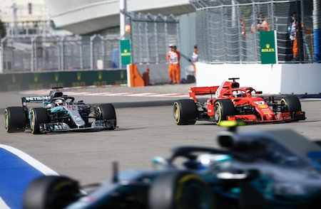 """""""I had to do this to make sure we secured this,"""" said Mercedes' chief strategist James Vowles to Bottas after the lead swap among the Mercedes drivers during the #RussianGP. Read more about it at bit.ly/2y0iiIx 