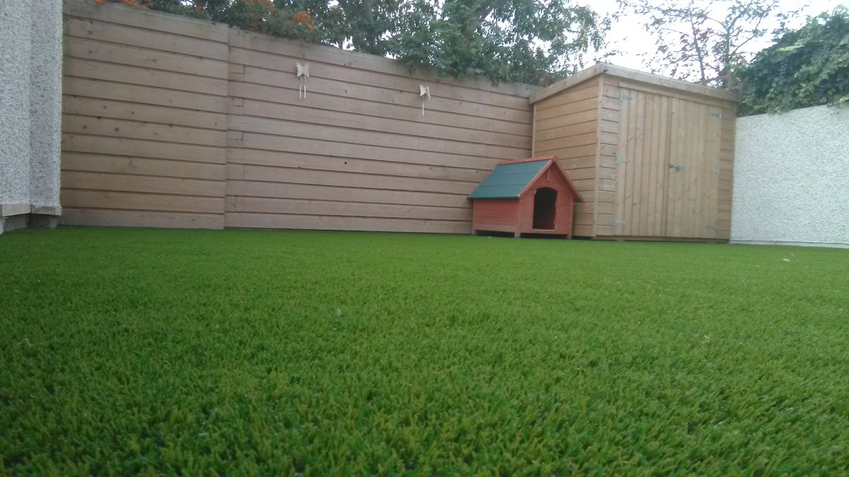 Completed photos of a garden in Santry with Royal Grass Silk 35 mm. #artificialgrass  #santry  #dublin   http://www.dublinartificialgrass.ie   @DubArtificial