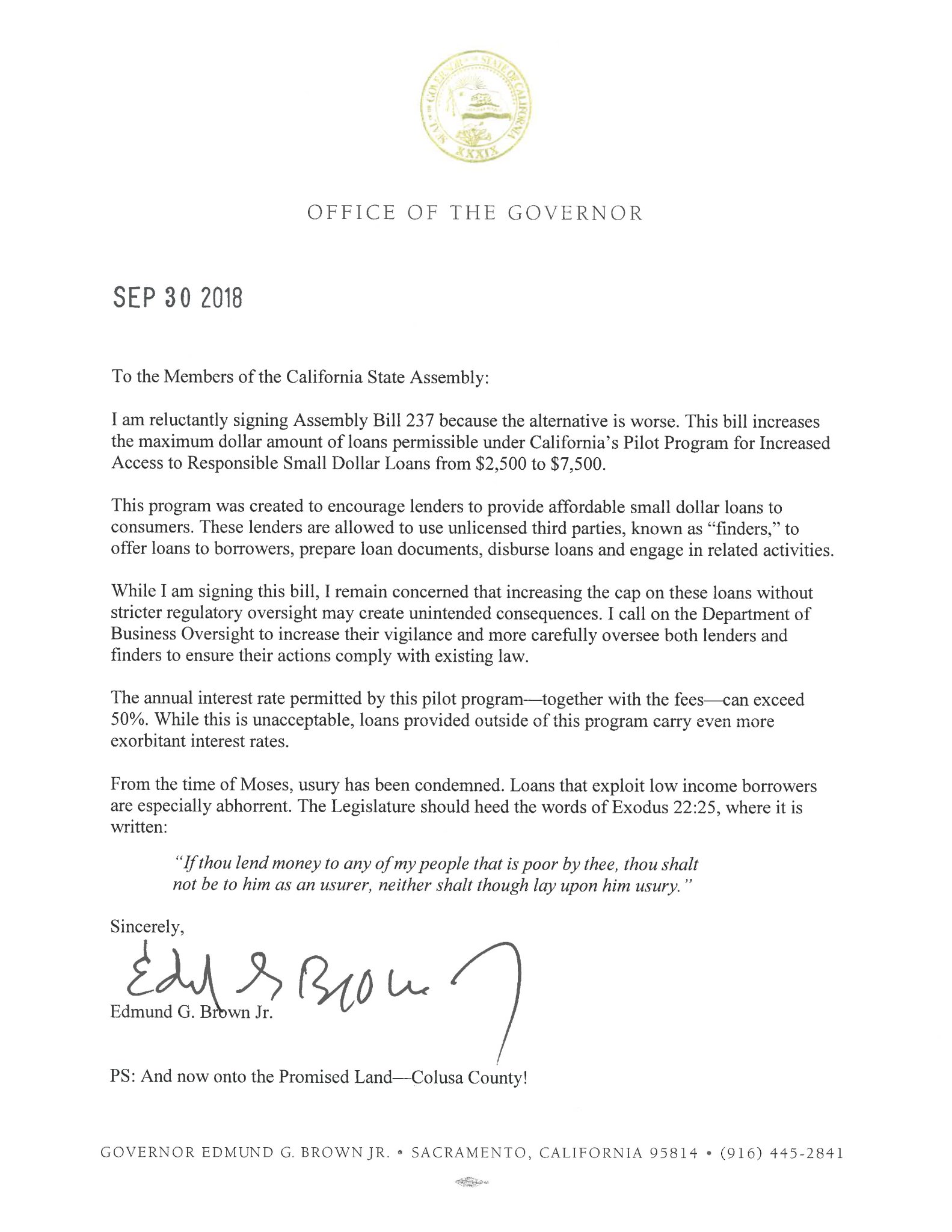 Gov Brown Press Office On Twitter Icymi Heres The Final Bill