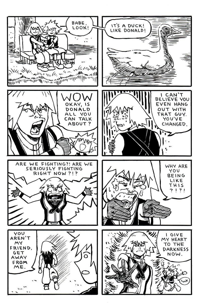 kingdom hearts comic about jealousy