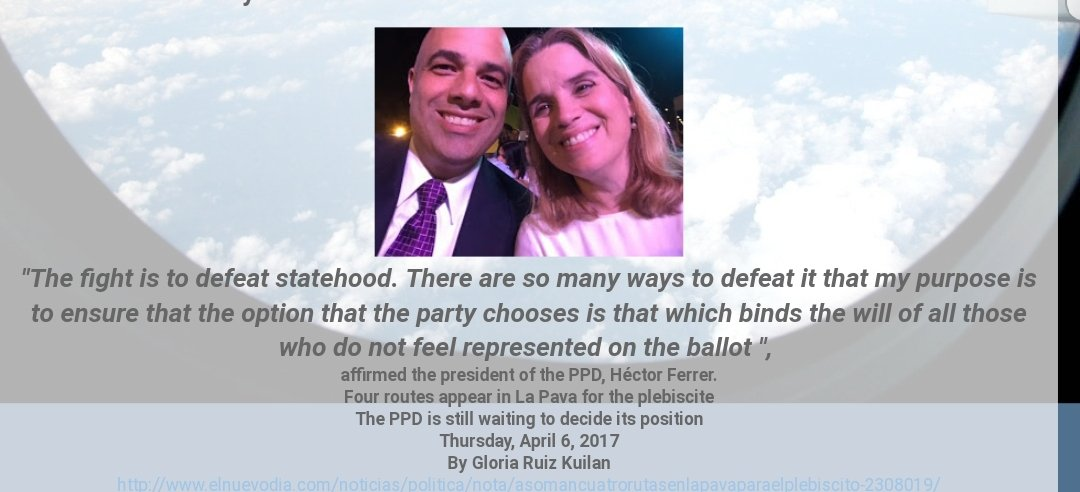 It was not &quot;Ricky&quot;.  It was @ppdpr! Hector Ferrer , Anibal Acevedo Vila &amp; @CarmenYulinCruz.  Your very left betrayed the left.<br>http://pic.twitter.com/HP8A5EXfYz