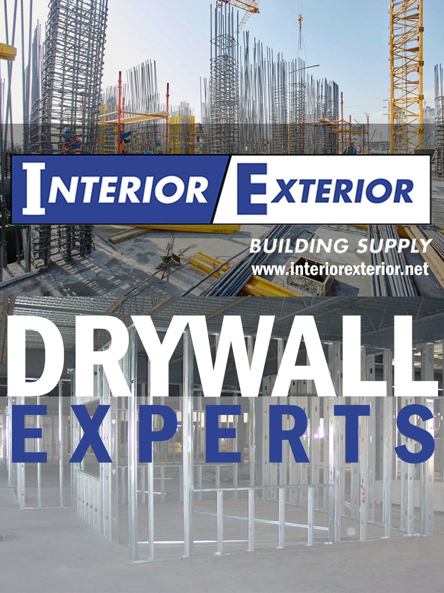 DRYWALL EXPERTS FOR ALL CONTRACTORS! Interior Exterior Building Supply Is  Dedicated To The Customer,