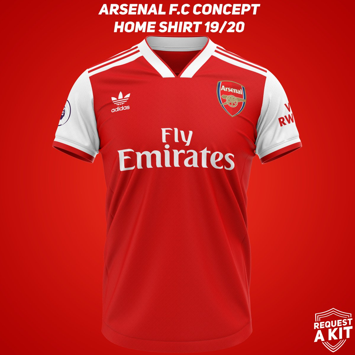 de502046c15 Arsenal F.C Concept Home, Away and Third Shirts 19/20 #Arsenal #AFC  #gunners #adidas #FM18 #FM19 #WeAreTheCommunitypic.twitter.com/wszKNj0Snz