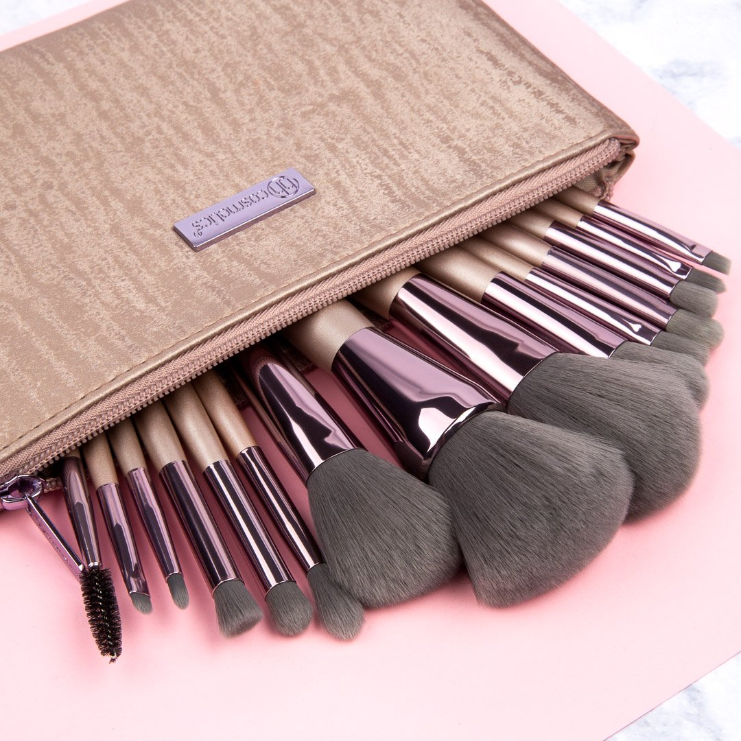 "BH Cosmetics on Twitter: ""💖💖💖 Lavish Elegance 15 Piece Brush ..."